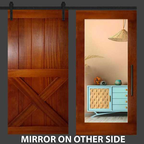 Z Mirror Barn Door Barn with Mirror Panel