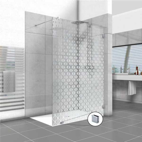 Frameless Fixed Shower Glass Panel FSS-0015