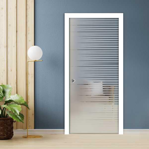 Pocket Glass Barn Door (Model PSGD-0067 Semi-Private)
