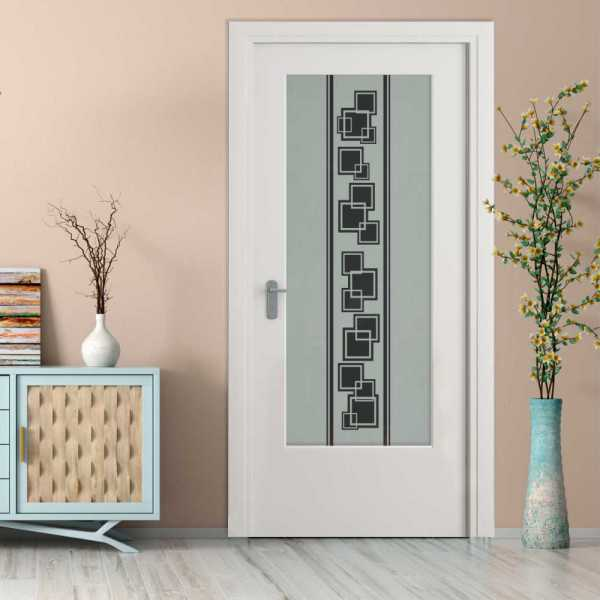 MDF Hinged Doors with Glass Insert HMDI-0014