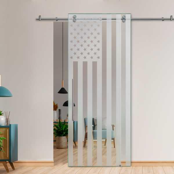 Glass Barn Door (Model SGD-V2000-0425 Semi-Private)