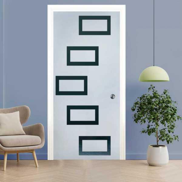 Pocket Glass Barn Door (Model PSGD-0077 Semi-Private)