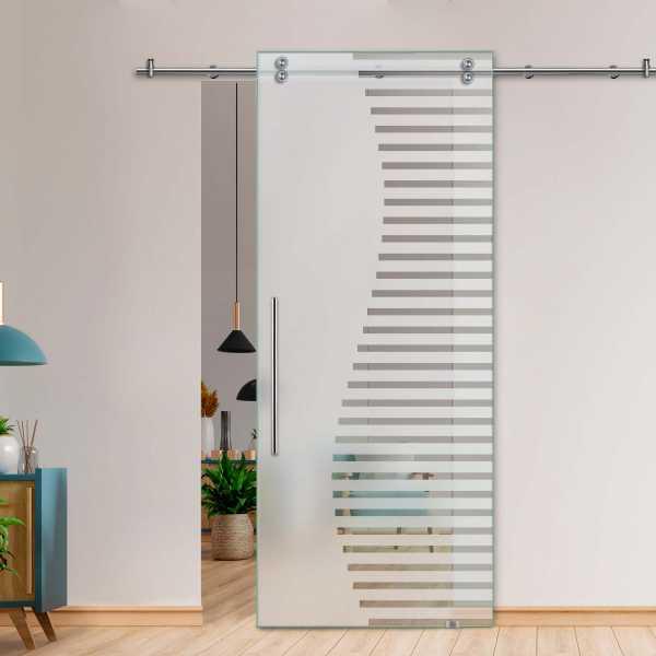 Glass Barn Door (Model SGD-V2000-0232 Semi-Private)