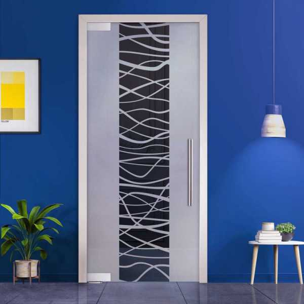 Pivot Glass Door (Model PD-0019 Semi-Private) with Handle Bar