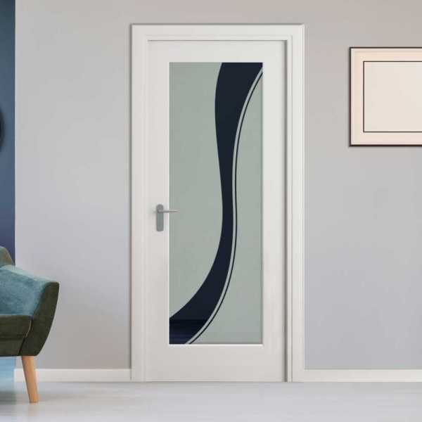 Pantry Room MDF Hinged Doors with Glass Insert CHMDI-00009 (Semi-Private)