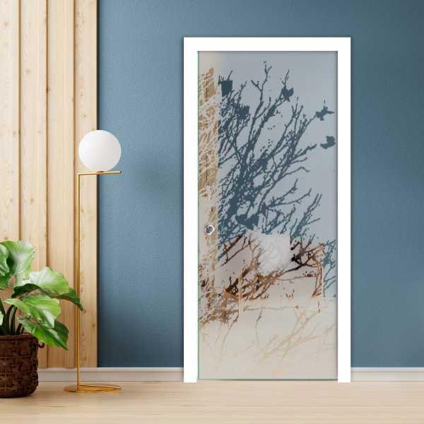 Pocket Glass Barn Door (Model PSGD-0033 Semi-Private)