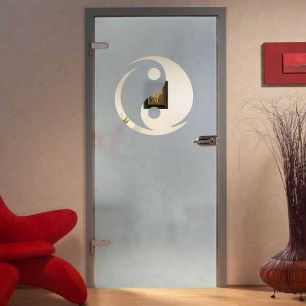 """Hinged Glass Door, 36'x84"""", Glass Thickness: 10mm with Costumized Design"""