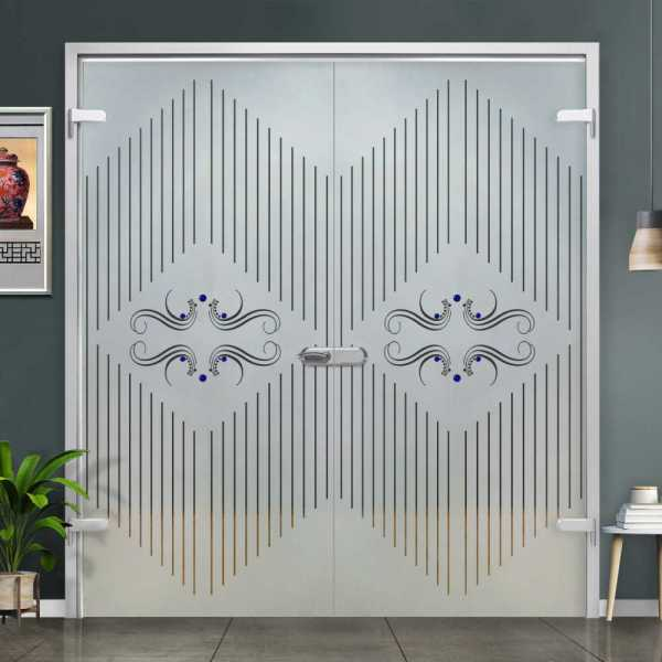 Double Hinged Glass Door (Model H-H+DHGD-0028 Semi-Private)
