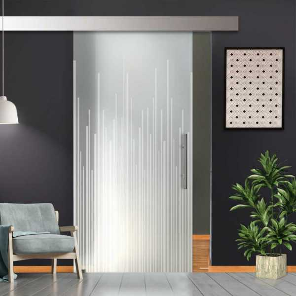 "38"" x 84"" Sliding Glass Barn Door with Full-Private Frosted Design + Hardware ""Open Box"""