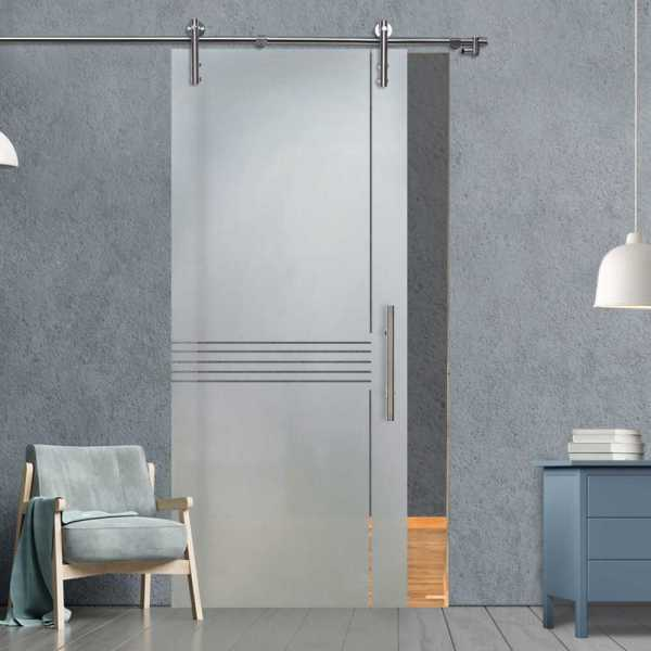 Glass Barn Door (Model SGD-V1000-0109 Semi-Private)