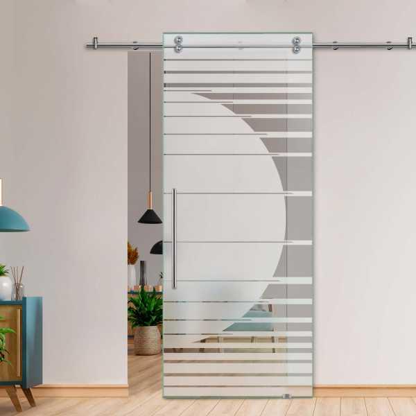 Single Sliding Barn Glass Door SGD-V2000-0251