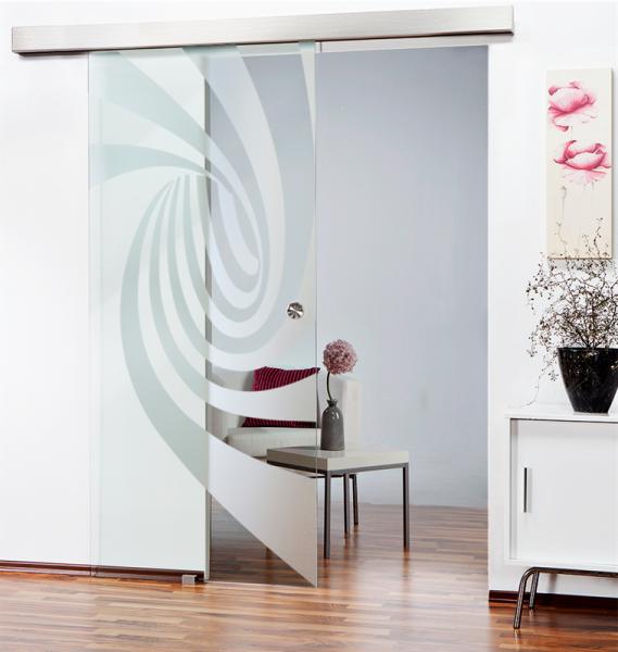 Glass Barn Door (Model SGD-ALU100-0133 Semi-Private)