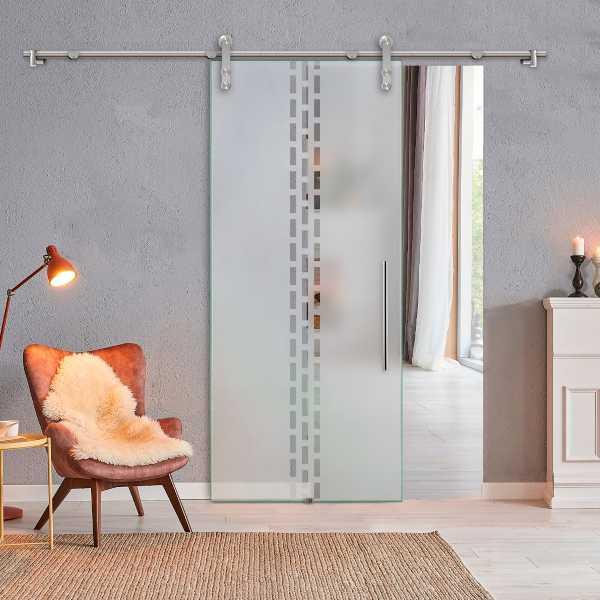 Glass Barn Door (Model SGD-V1000-0306 Semi-Private)