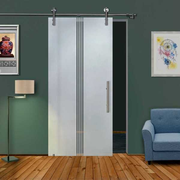 Glass Barn Door (Model SGD-V1000-0304 Semi-Private)
