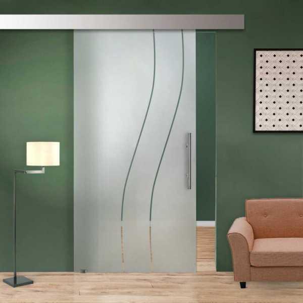 Single Sliding Glass Barn Door SGD-ALU100-0002