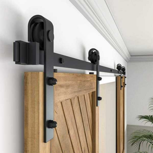 Closet Kit, Cabinet, with Hardware, Antique Style for Double Doors, Black Surface, Black