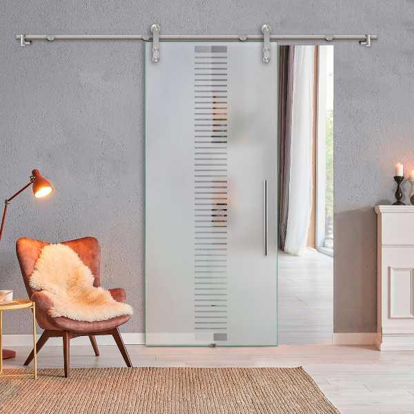 Glass Barn Door (Model SGD-V1000-0309 Semi-Private)
