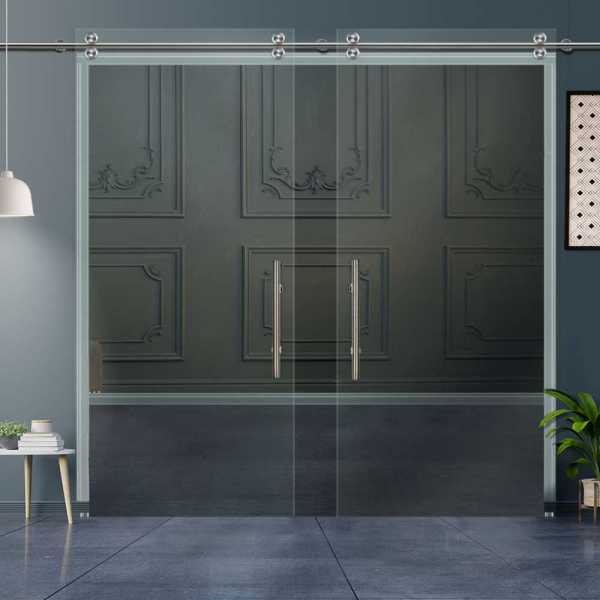Glass Barn Door (Model DSGD-V2000-0008 Clear Glass)