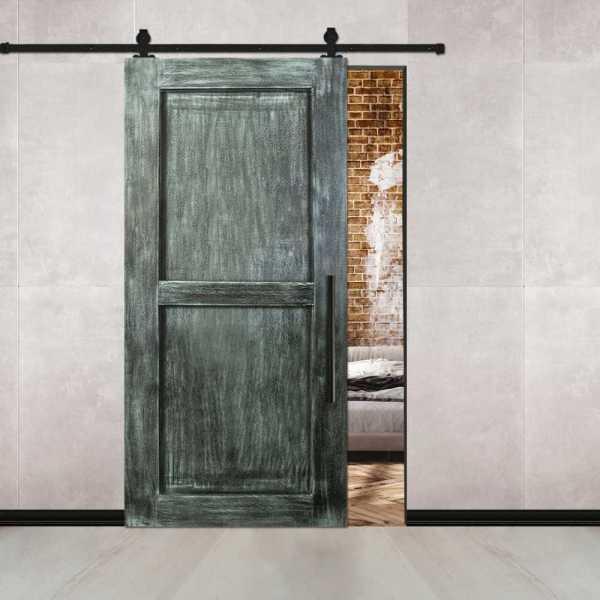Vintage Ranch Sliding Barn Door with 1 Center Brace & Carbon Steel Hardware.