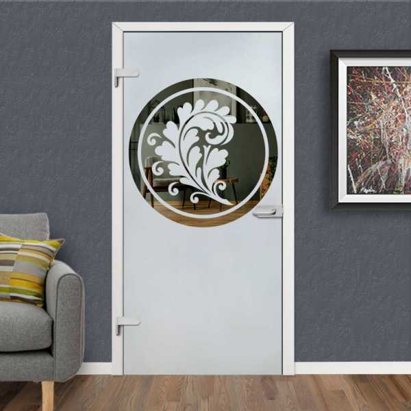 Hinged Glass Door Model HGD-H+H-0015 (Semi-private)