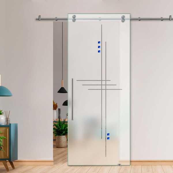 Glass Barn Door (Model SGD-V2000-0072 Semi-Private)