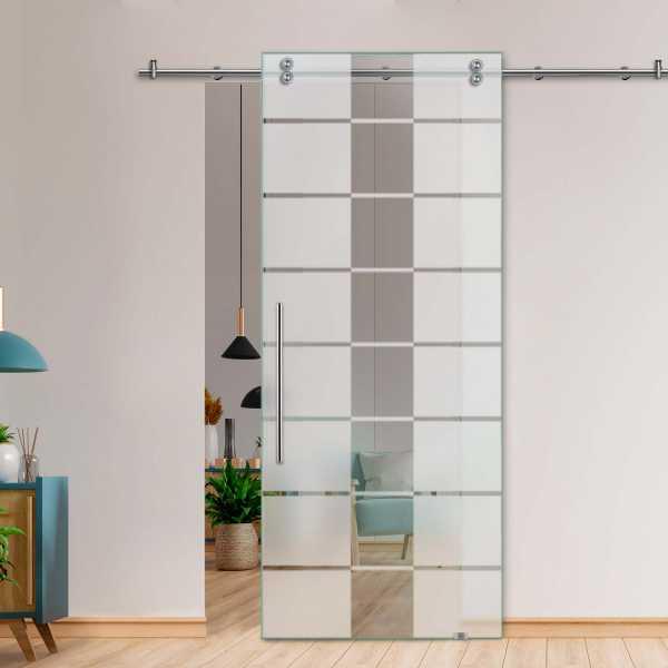 Glass Barn Door (Model SGD-V2000-0055 Semi-Private)