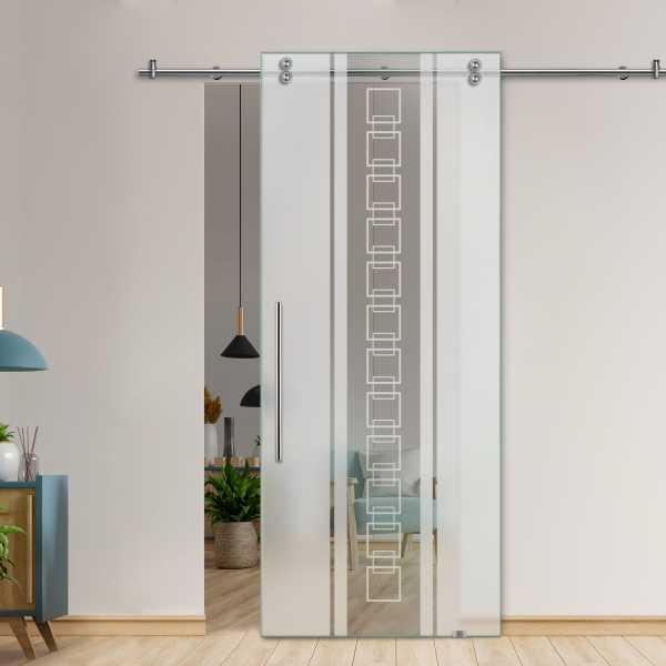 Glass Barn Door (Model SGD-V2000-0064 Semi-Private)