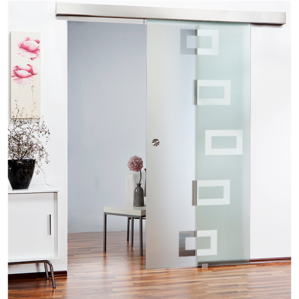 Sliding Glass Barn Door SGD-ALU100-0102