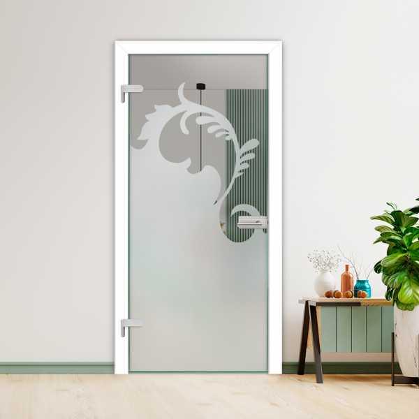 Hinged Glass Door (Model HGD-H+H-0086 Full-Private)