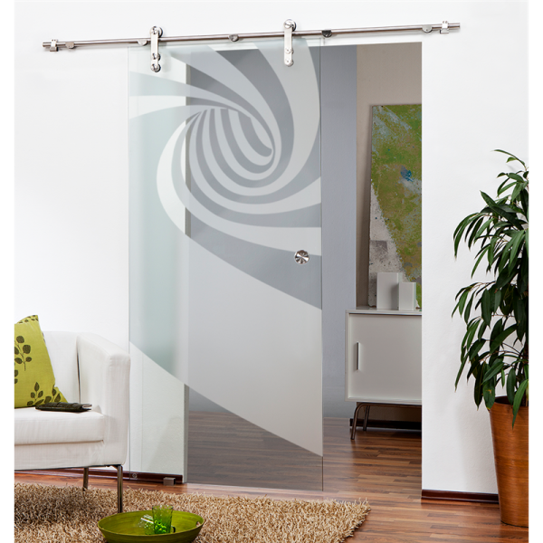 Sliding Glass Barn Door SGD-V1000-0078 semi-private