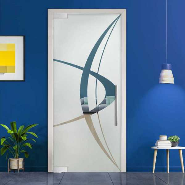 Pivot Glass Door (Model PD-0017 Semi-Private) with Handle Bar