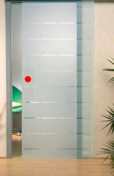 """Sliding Glass Barn Door, 40""""x81"""", Thickness: 10mm, Right Opening (Without Hardware) 25% Discount"""