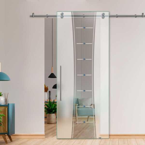 Glass Barn Door (Model SGD-V2000-0082 Semi-Private)