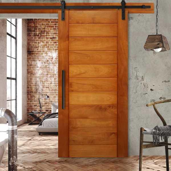 "++Sales Offers++ 48"" x 81"" Real Solid Hardwood Sliding Barn Door WD-0050"