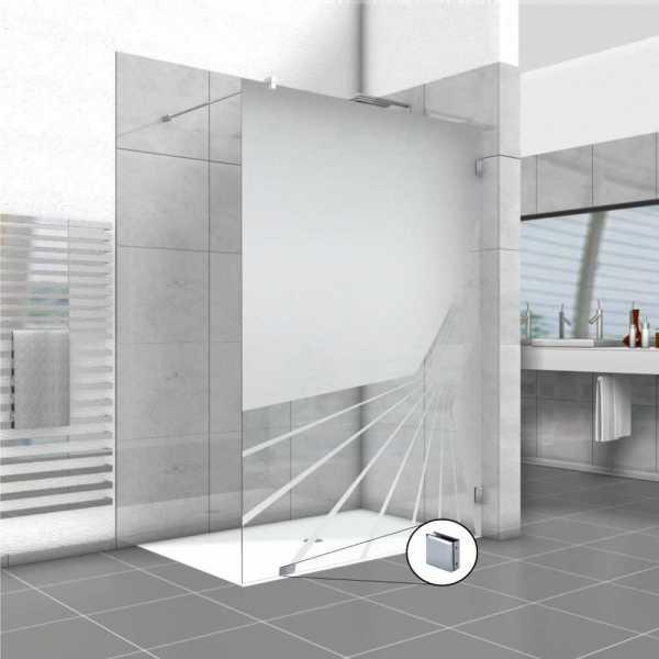 Frameless Fixed Shower Glass Panel FSS-0008