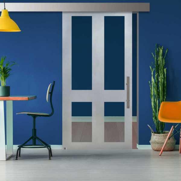 ++Sales Offers++ Sliding Glass Barn Door SGD-ALU100-0117