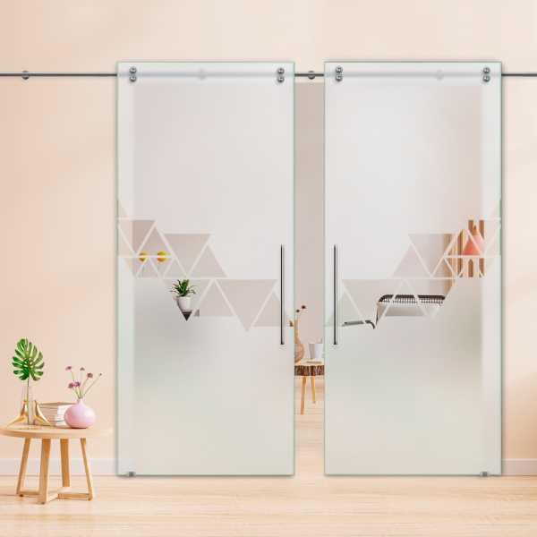 Glass Barn Door (Model DSGD-V2000-0037 Semi-Private)