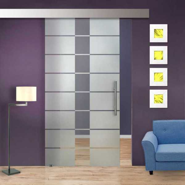Sliding Glass Barn Door SGD-ALU100-0240