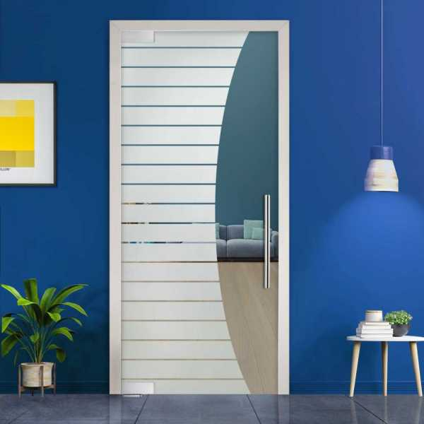 Pivot Glass Door (Model PD-0015 Semi-Private) with Handle Bar