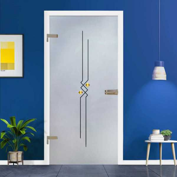 Hinged Glass Door (Model HGD-H+H-0062 Semi-Private)