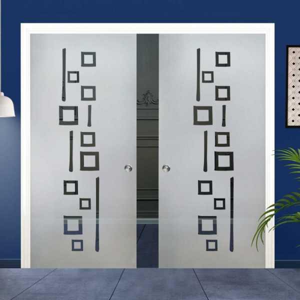 Double Pocket Glass Barn Door (Model DPSGD-0026 Semi-Private)_Recessed Grip Handle