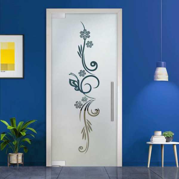 Pivot Glass Door (Model PD-0048 Semi-Private) with Handle Bar