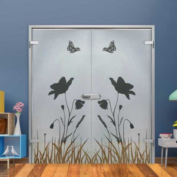 Double Hinged Glass Door (Model H-H+DHGD-0037 Semi-Private)