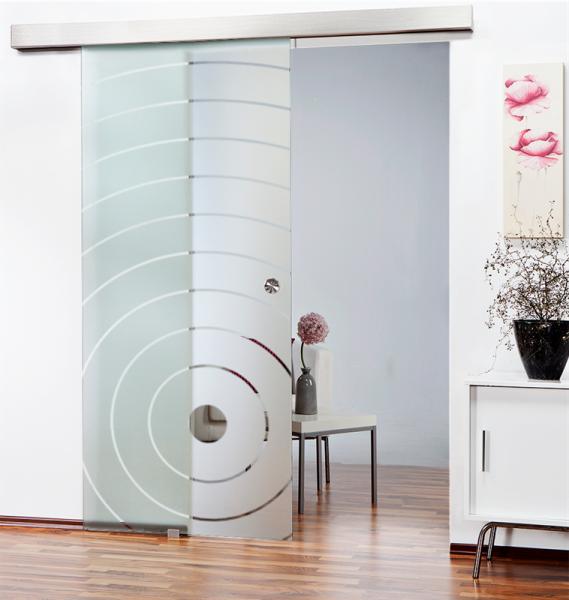 Glass Barn Door (Model SGD-ALU100-0062 Semi-Private)