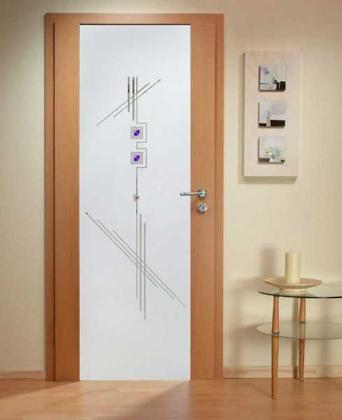Solid Wood Hinged Door with Glass Insert HWDI-0014