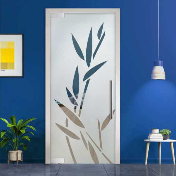 Pivot Glass Door (Model PD-0029 Semi-Private) with Handle Bar