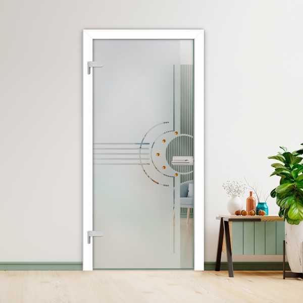 Hinged Glass Door (Model HGD-H+H-0032 Full-Private)
