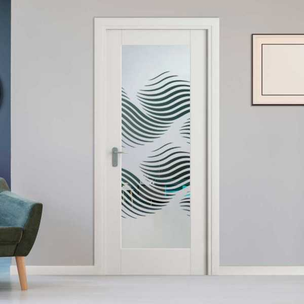 1 Lite Interior Door with Glass Insert (Model 1LID-0013 Semi-Private)