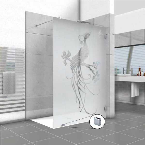 Frameless Fixed Shower Glass Panel FSS-0005
