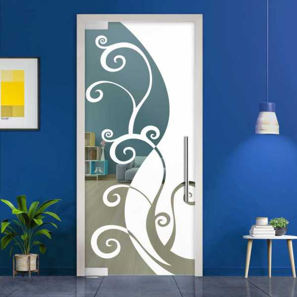 Pivot Glass Door (Model PD-0055 Semi-Private) with Handle Bar
